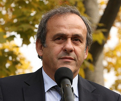 The 62-year old son of father Ald and mother Anna, 177 cm tall Michel Platini in 2017 photo
