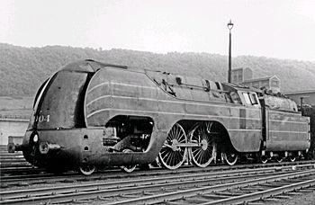 Foto van locomotief Antalntic 12
