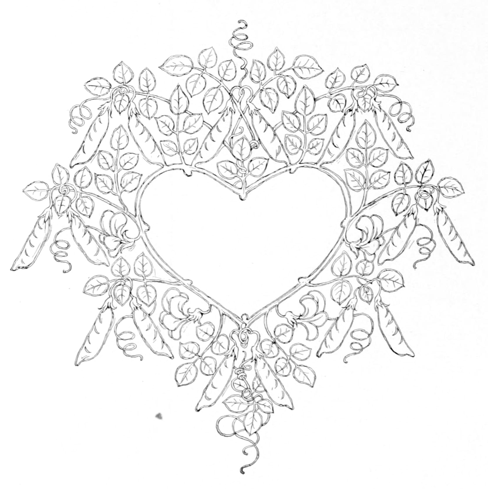 Coloring Pages For Adults Hearts : File:Page 522 of Fairy tales and stories (Andersen, Tegner).png Wikimedia Commons