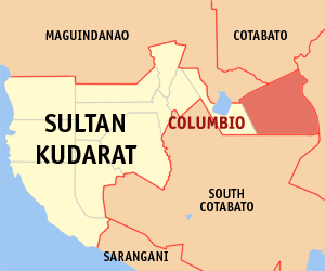 Map of Sultan Kudarat showing the location of Columbio