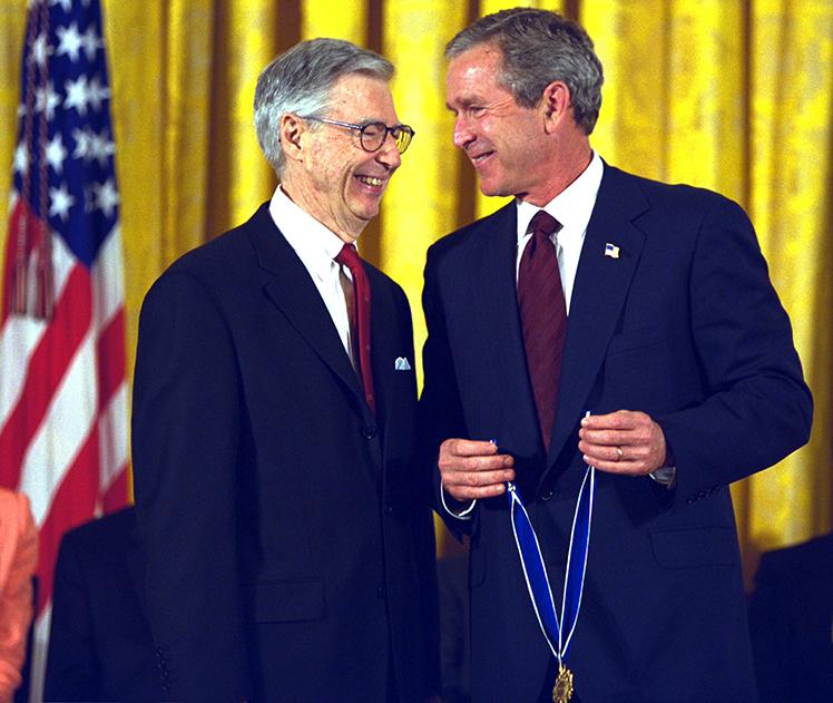 Fred Rogers & Pres. Bush