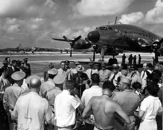 File:President Harry S. Truman at Wake Island.jpg