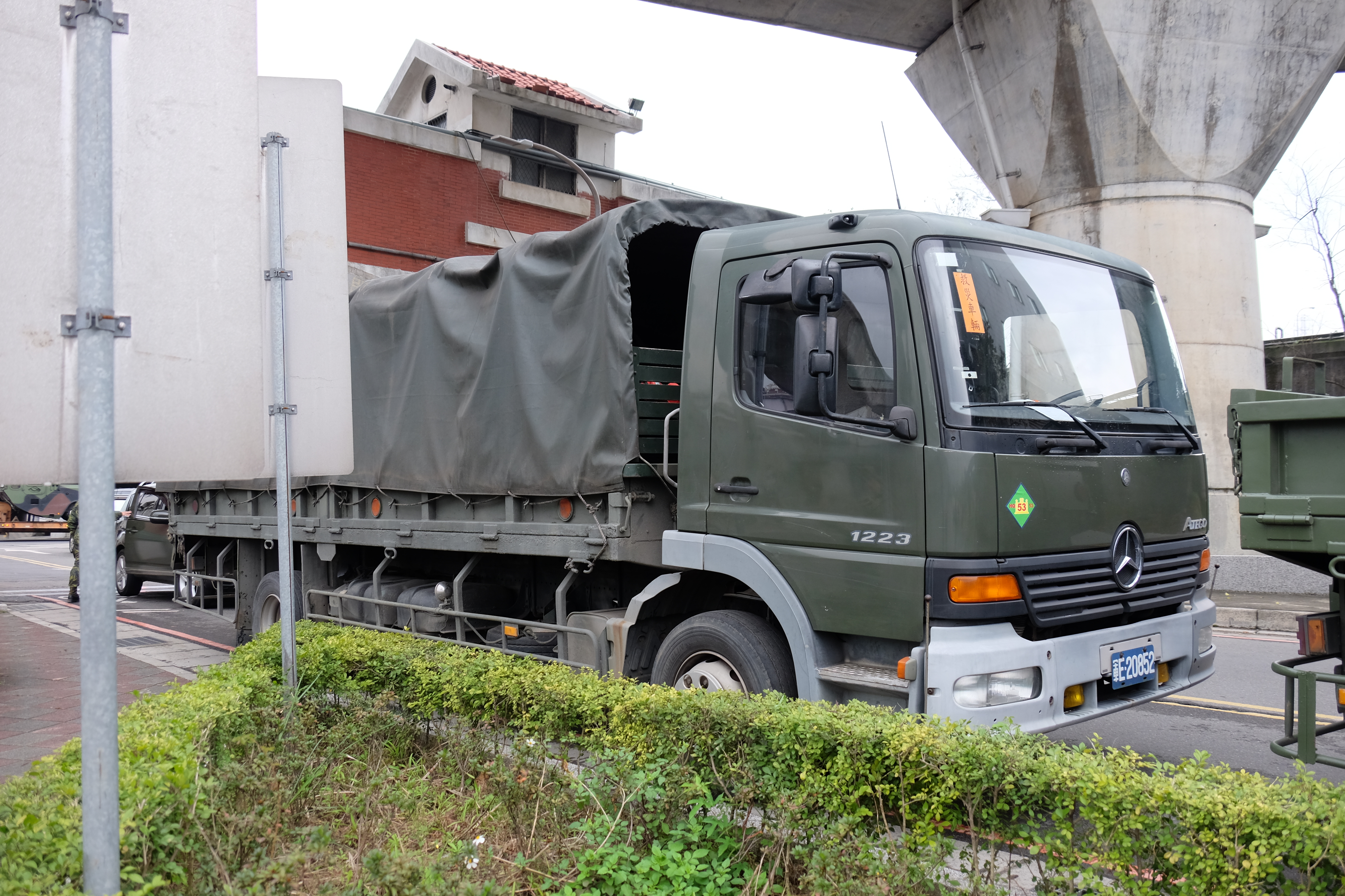 File:ROCA 53th Engineering Group Mercedes Benz Atego 1223 Truck Parked At  Nanhu Riverside