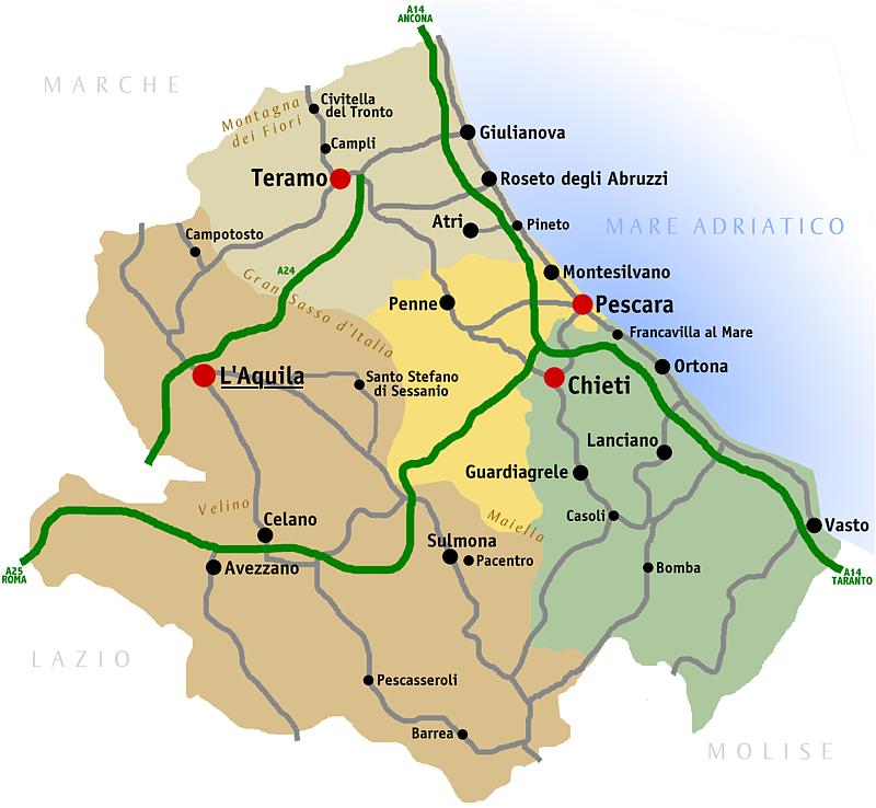 Abruzzo Cartina Geografica Dettagliata.Geografia Dell Abruzzo Wikipedia