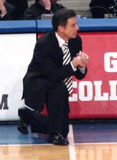 Rick Pitino during a game against West Virgini...