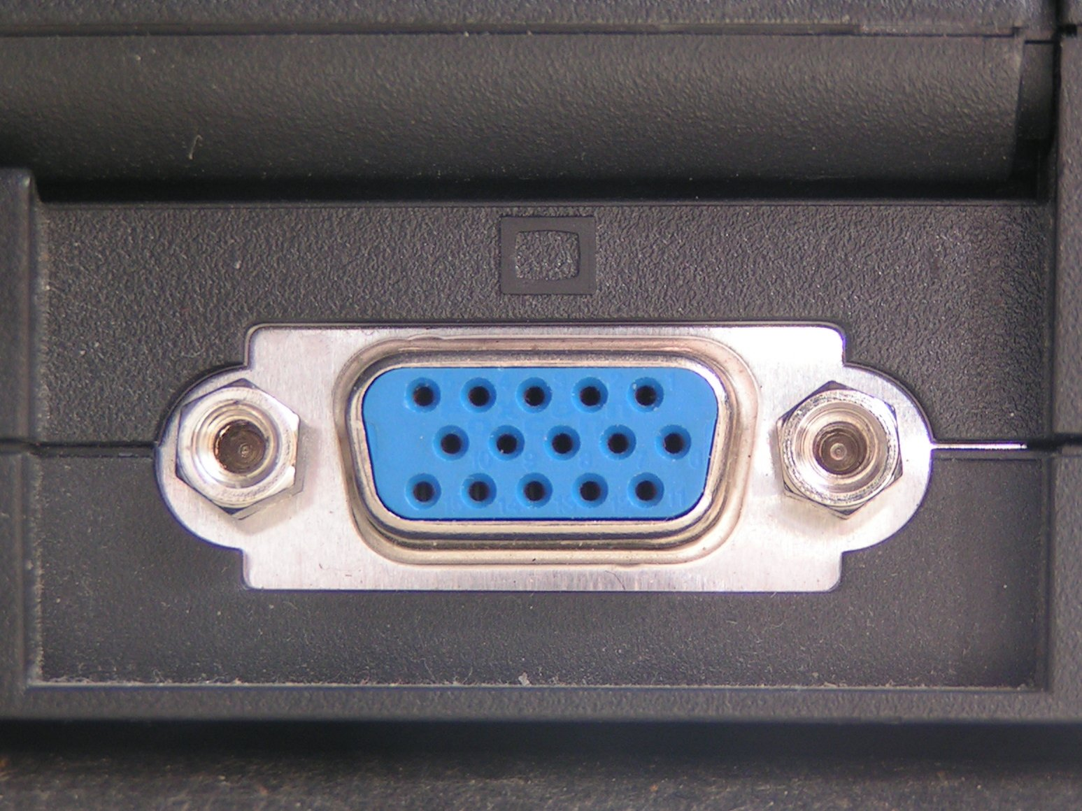 DE-15F, used for VGA, SVGA and XGA ports