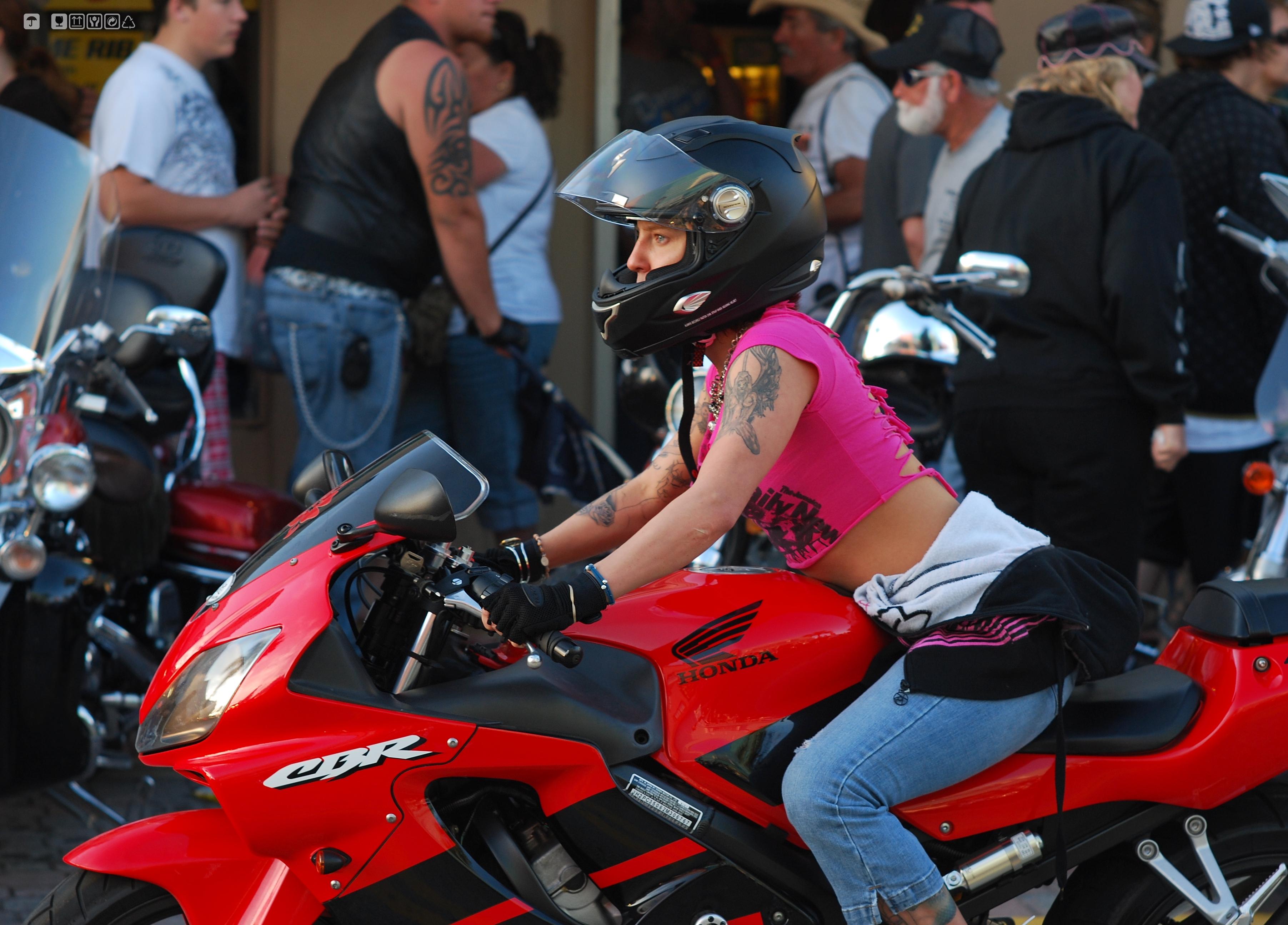 File She And Her Honda At Bike Week 2009 Daytona Jpg