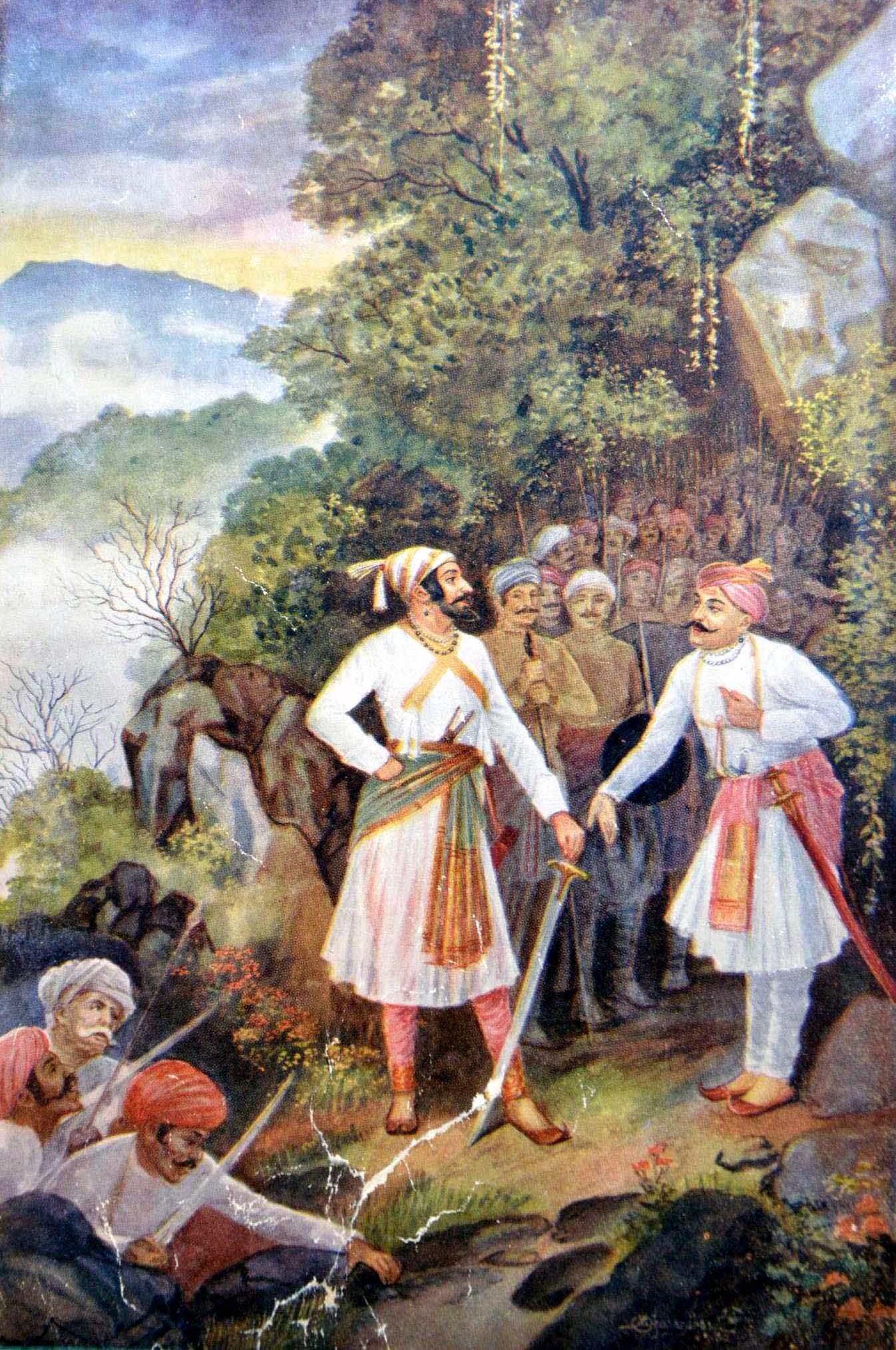 Shivaji and Baji Prabhu at Pawan Khind