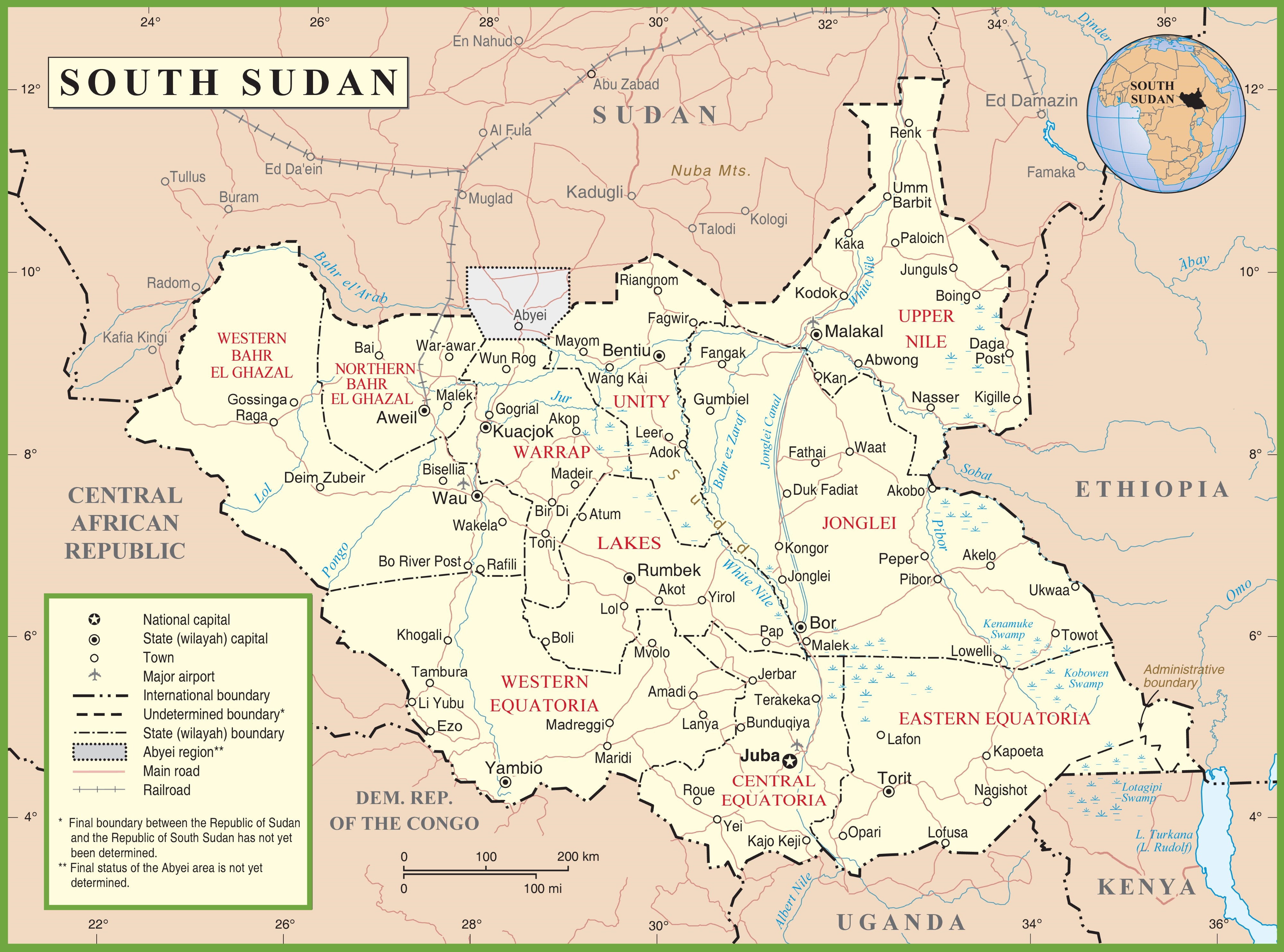File South Sudan Political Map Jpg Wikimedia Commons