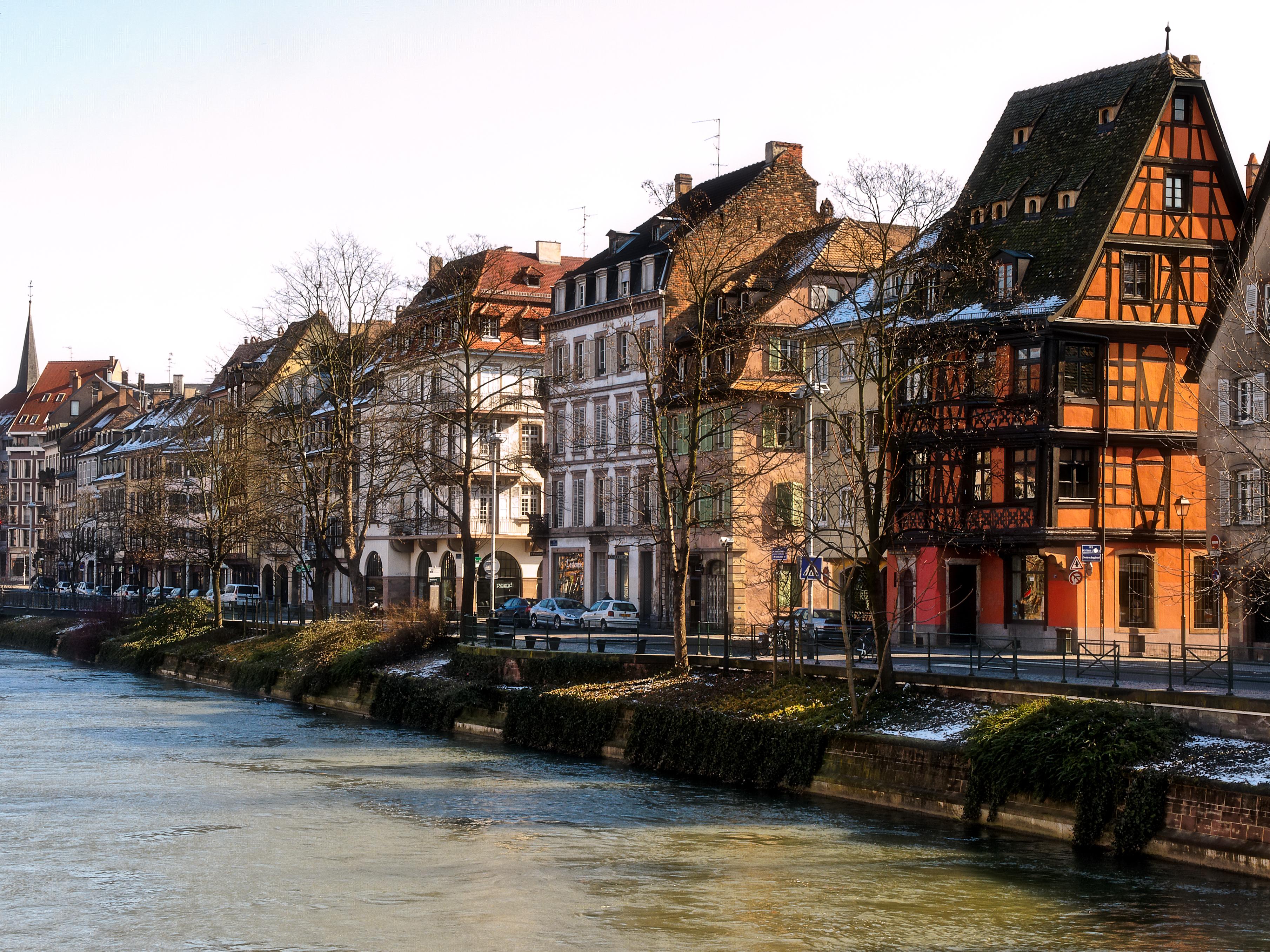 Strasbourg Centre Ville Avec Ecrit Strasbourt