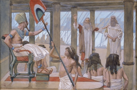 https://upload.wikimedia.org/wikipedia/commons/9/92/Tissot_Moses_Speaks_to_Pharaoh.jpg