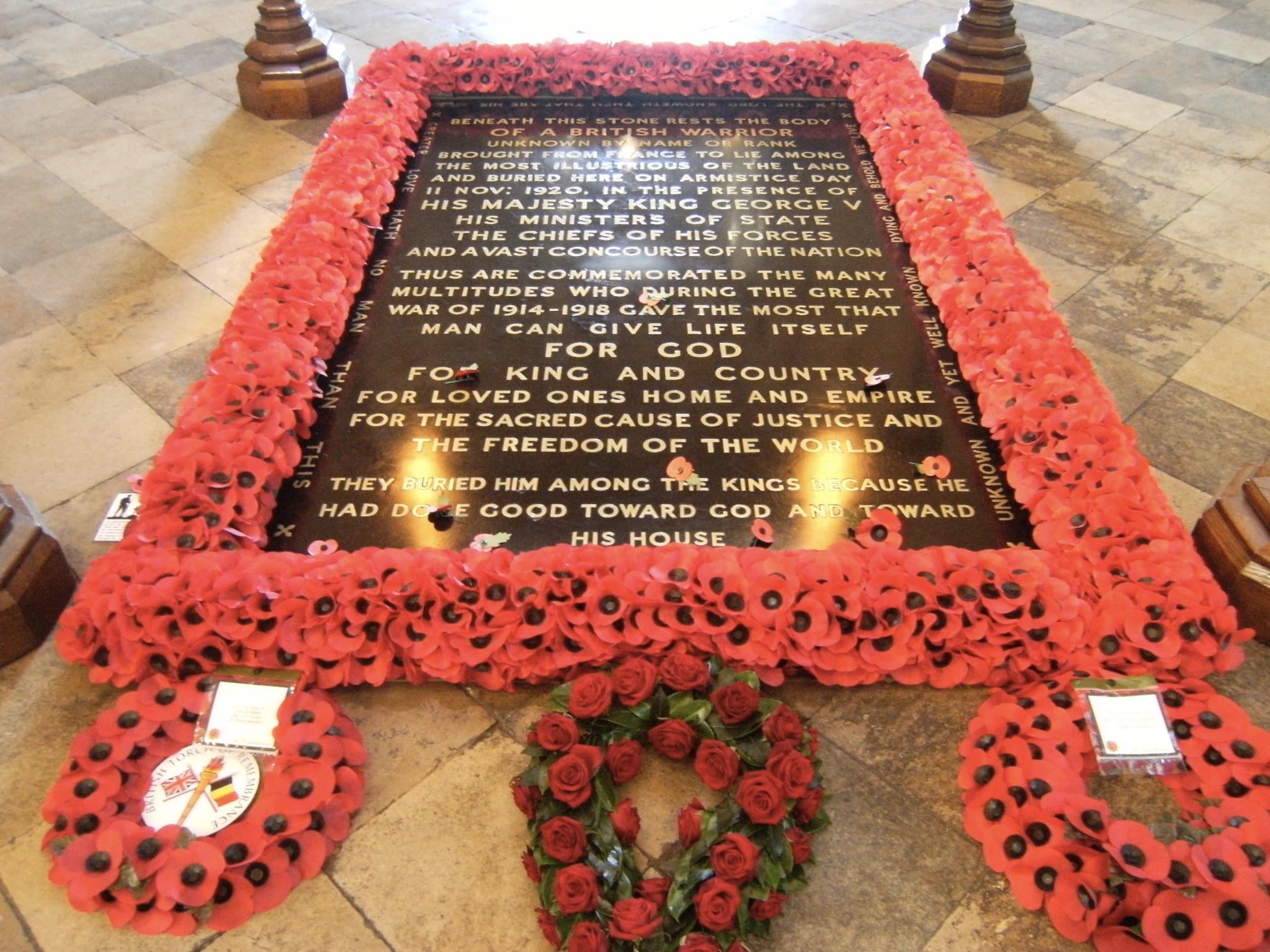 Grab des unbekannten Soldaten in Westminster Abbey