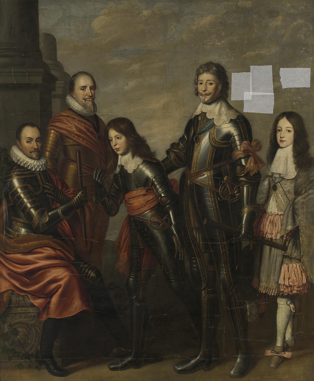 Filevier Generaties Van De Prinsen Van Oranje Willem I