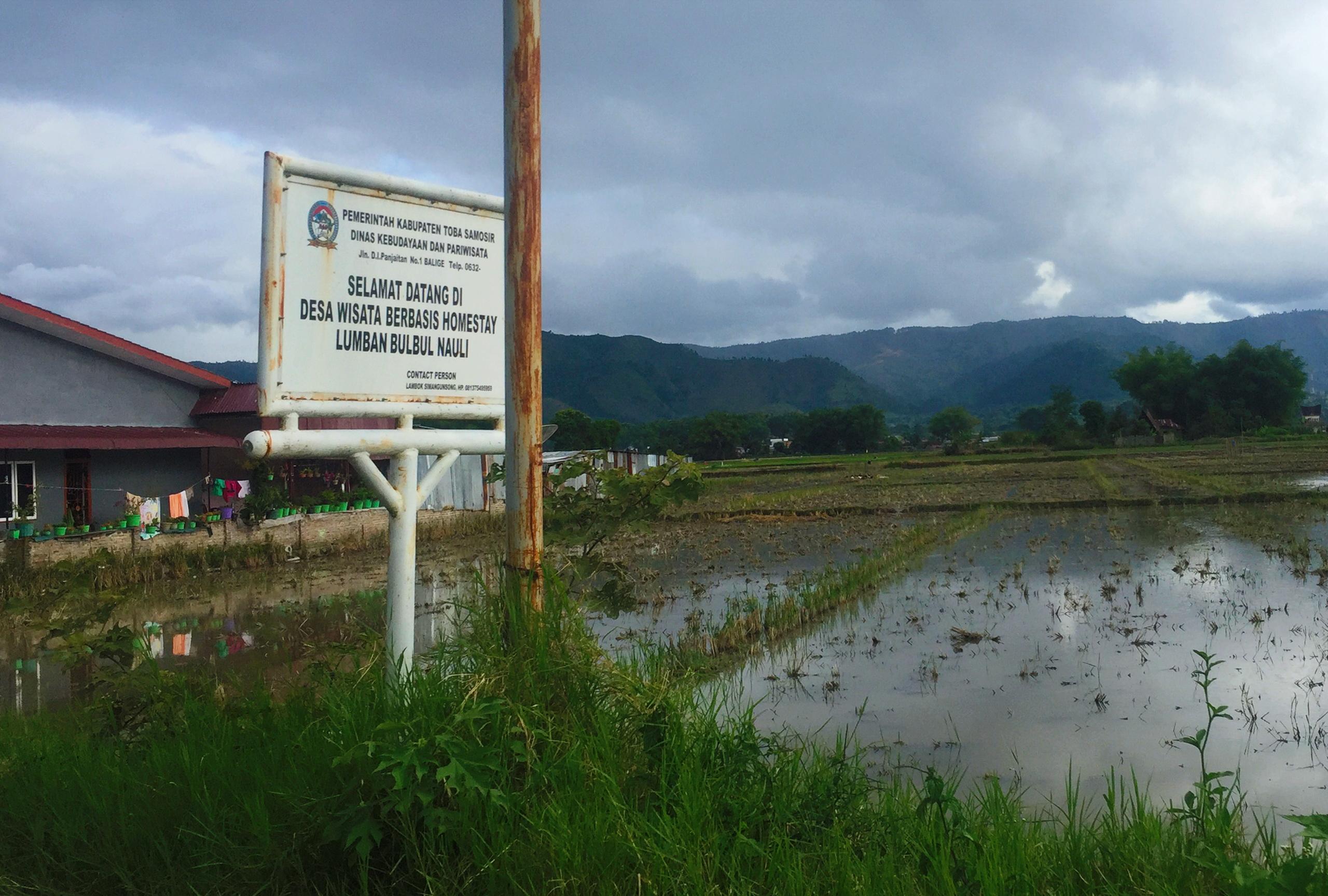 Berkas Welcome Gate To Lumban Bulbul Balige Toba Samosir