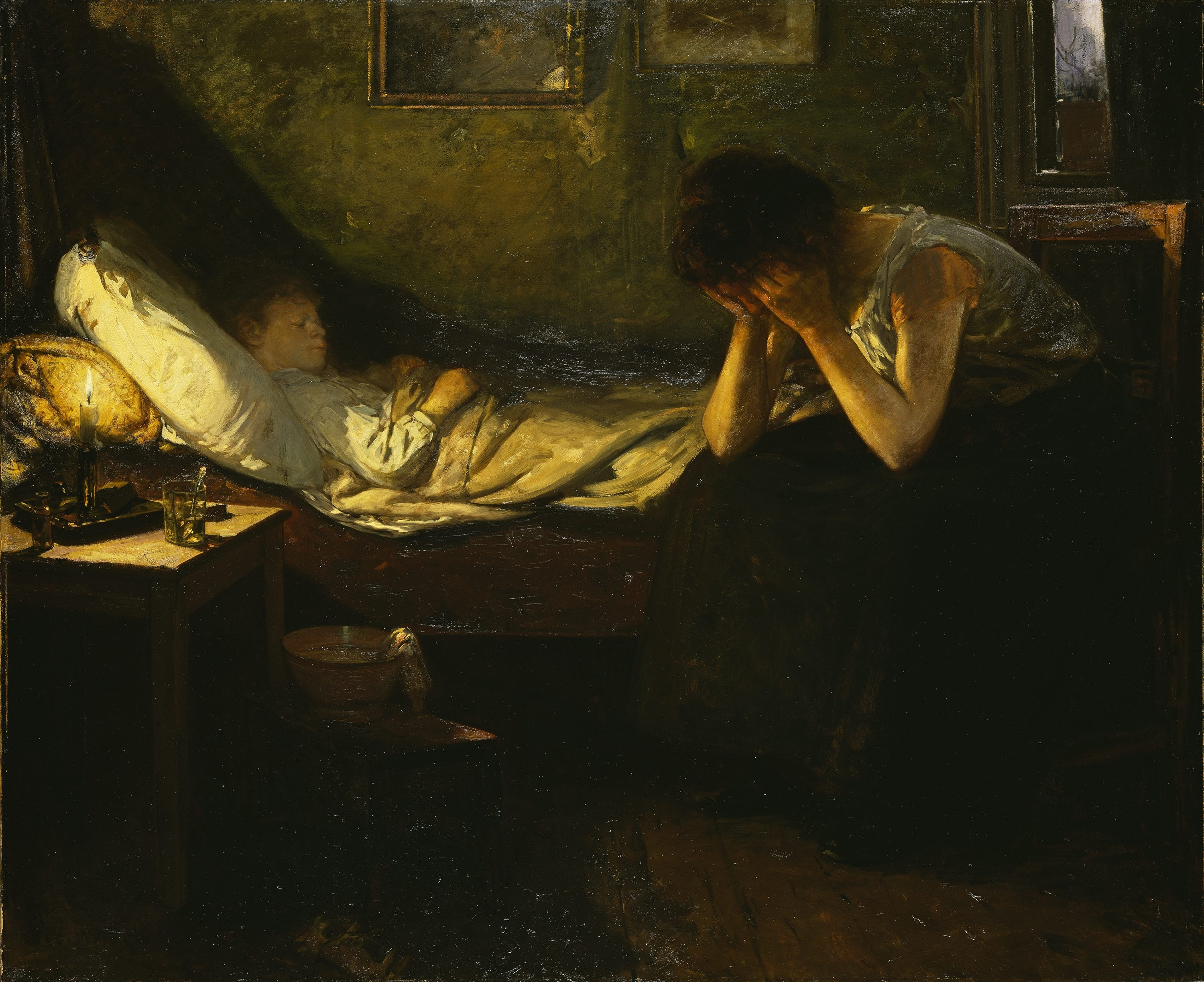 Image result for painting and artwork sick child