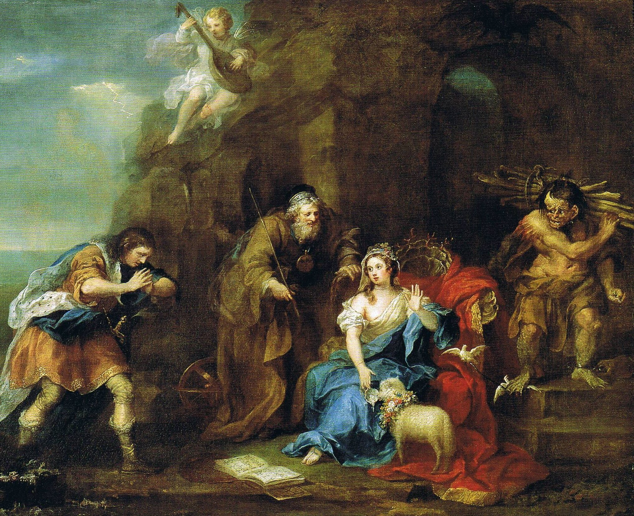 A Scene from Act I, Scene 2 (Ferdinand courting Miranda) of Shakespeare's