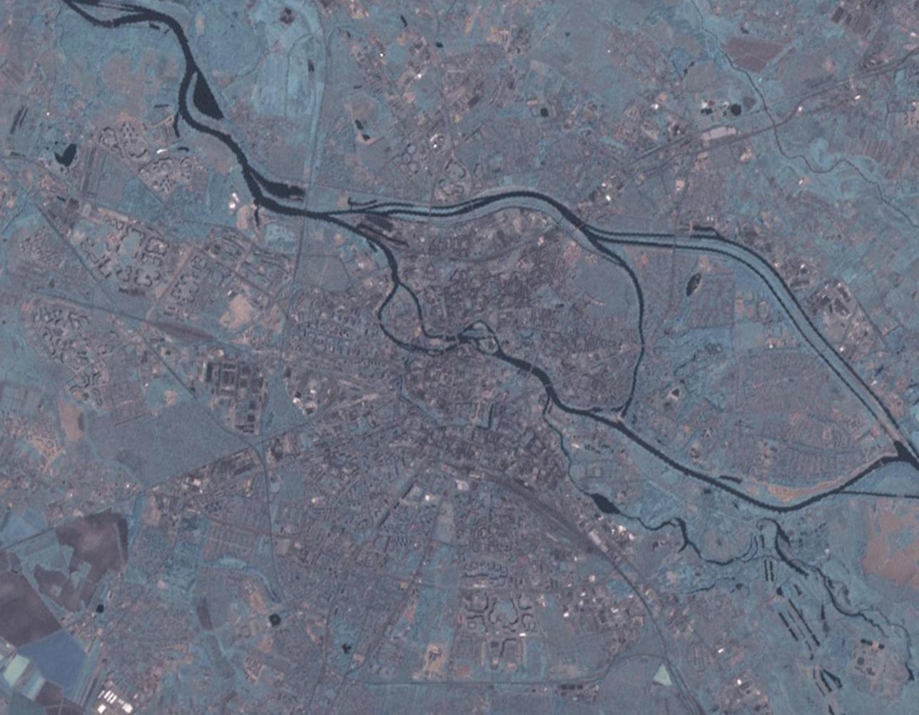 Satellitenbild von Breslau