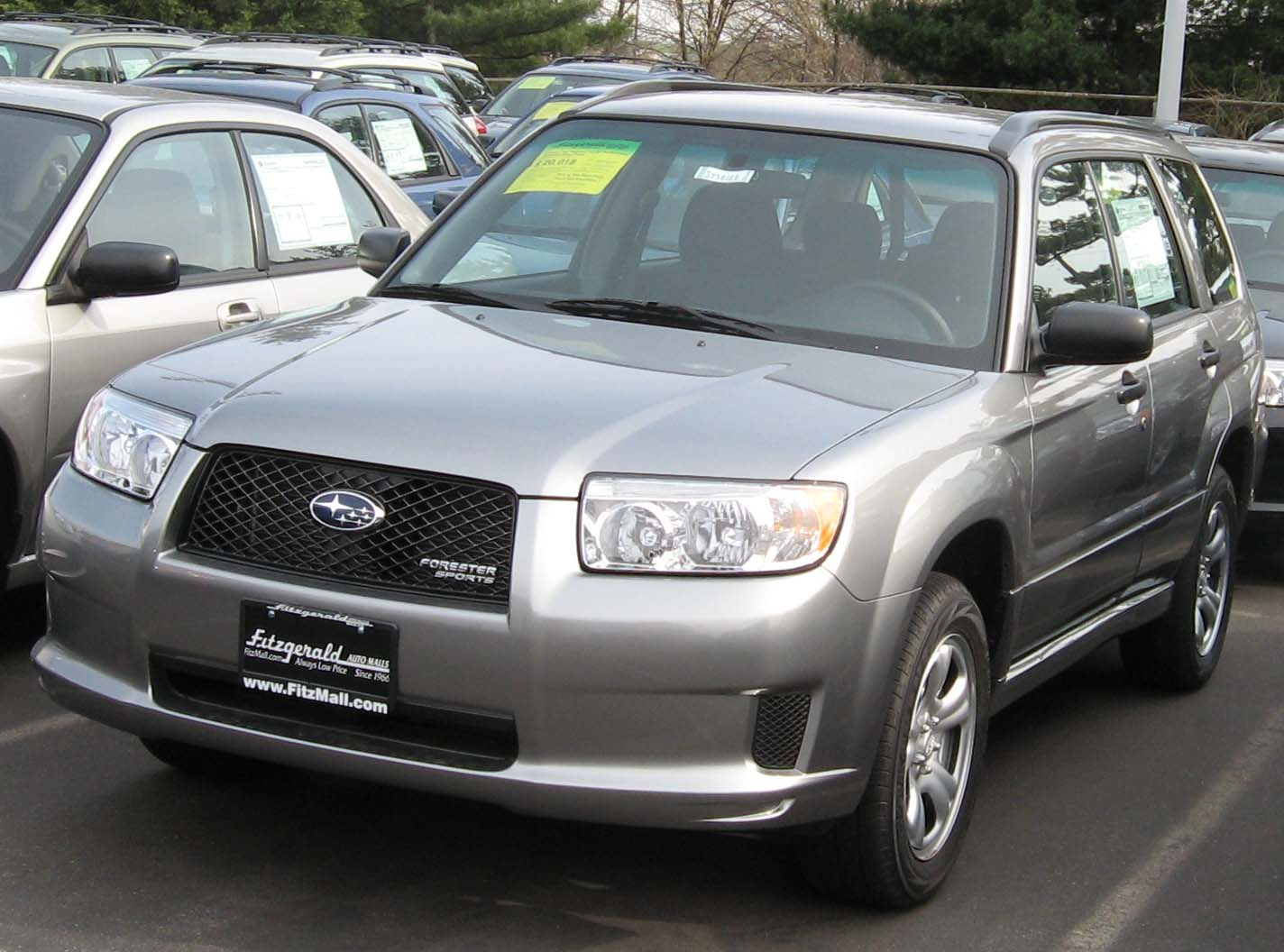 File 2007 Subaru Forester 2 5x Sports Jpg Wikimedia Commons
