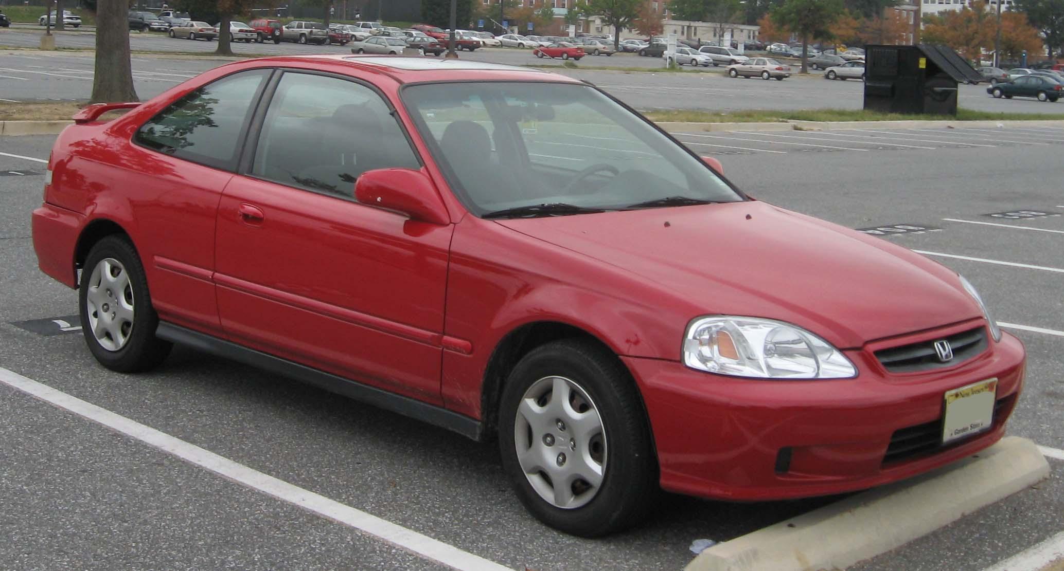 Honda Civic 2007 Coupe >> File:99-00 Honda Civic coupe.jpg - Wikimedia Commons