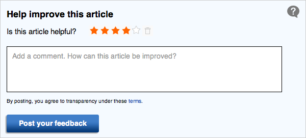 Article Feedback Form Option 3