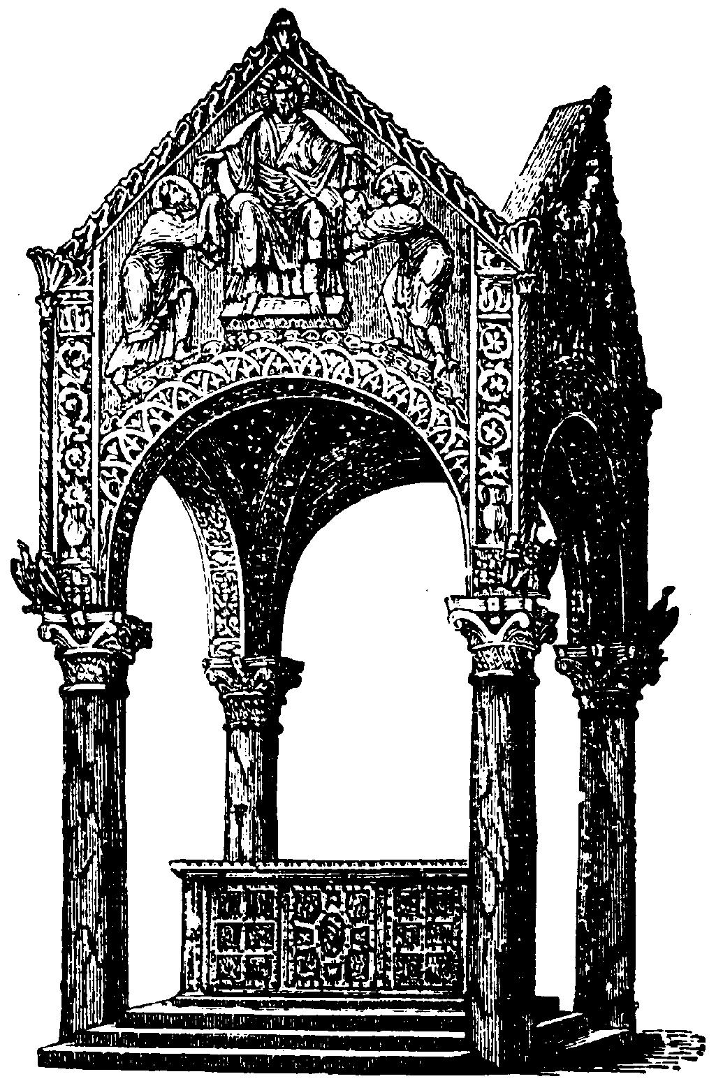Ciborio arquitectura wikipedia la enciclopedia libre - Que es un porche en arquitectura ...