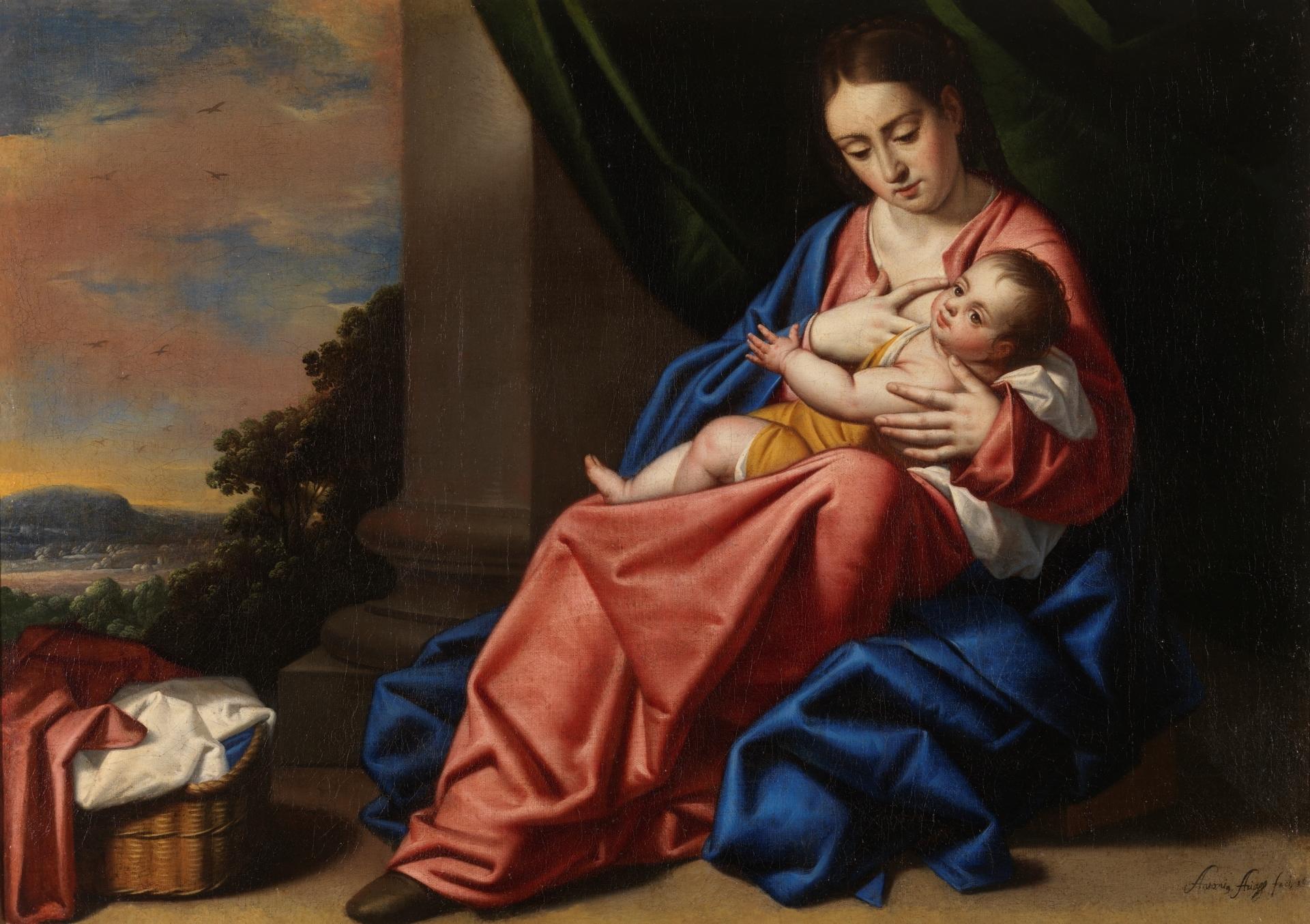 Antonio Arias Virgen con el niño Jesús Museo del Prado