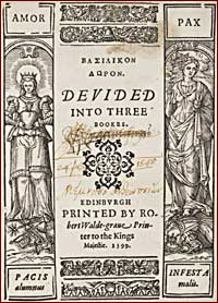 Title page of the Basilikon Doron