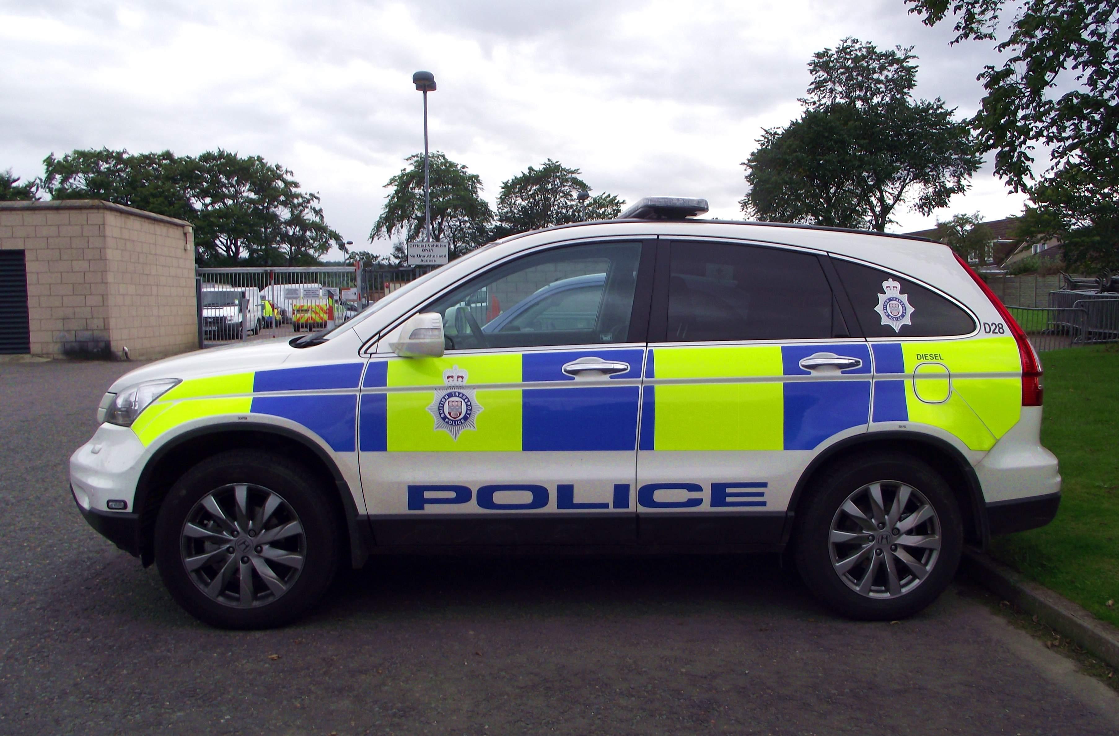 File British Transport Police Honda Crv At Inverness