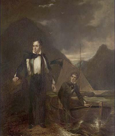 Лорд Байрон и его паж Раштон