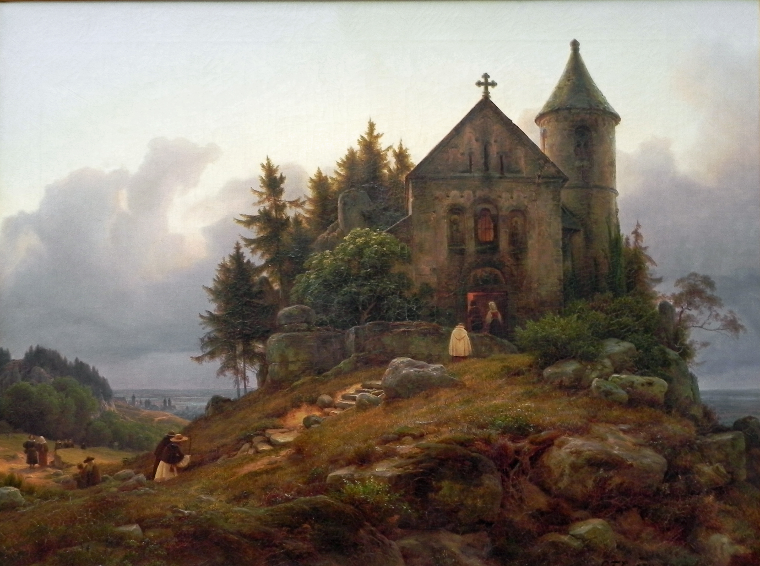 https://upload.wikimedia.org/wikipedia/commons/9/93/Carl_Friedrich_Lessing_(3)Forest_Chapel.JPG