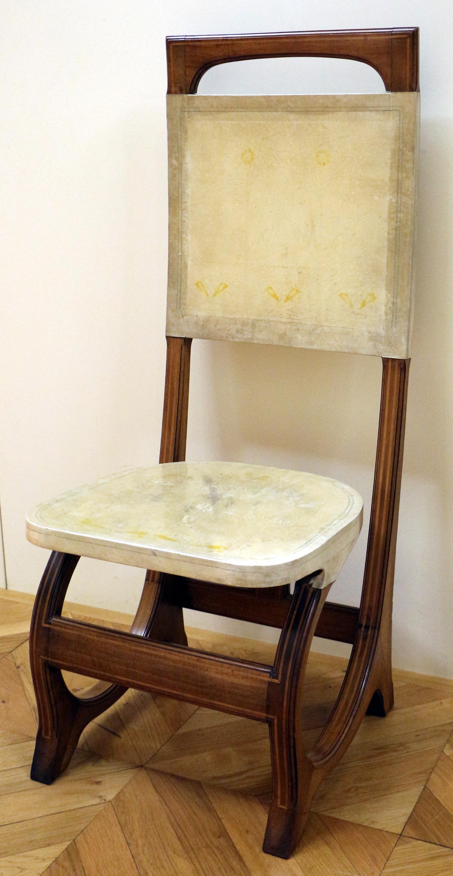 File carlo bugatti coppia di sedie da sala da pranzo - Sedie da sala da pranzo ...