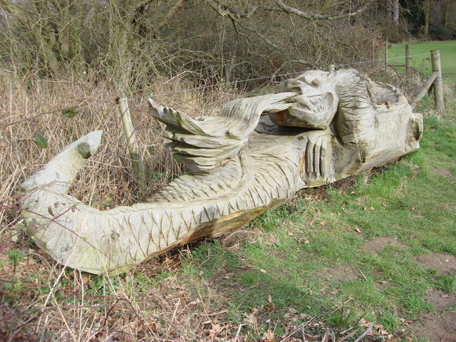 Carved dragon, Nowton Park - geograph.org.uk - 978292