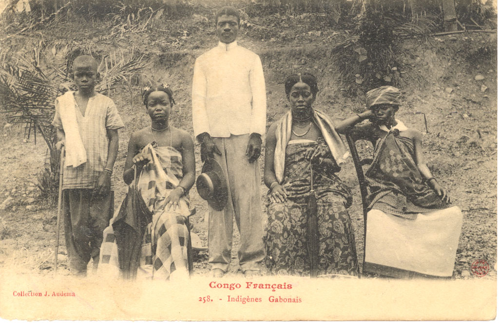 Colonial Gabon natives postcard 1905 Teke (Bateke/Tio) People: Ancient Riverine Warriors, Cultural Dominant And Politically Powerful Ethnic Group In Central Africa