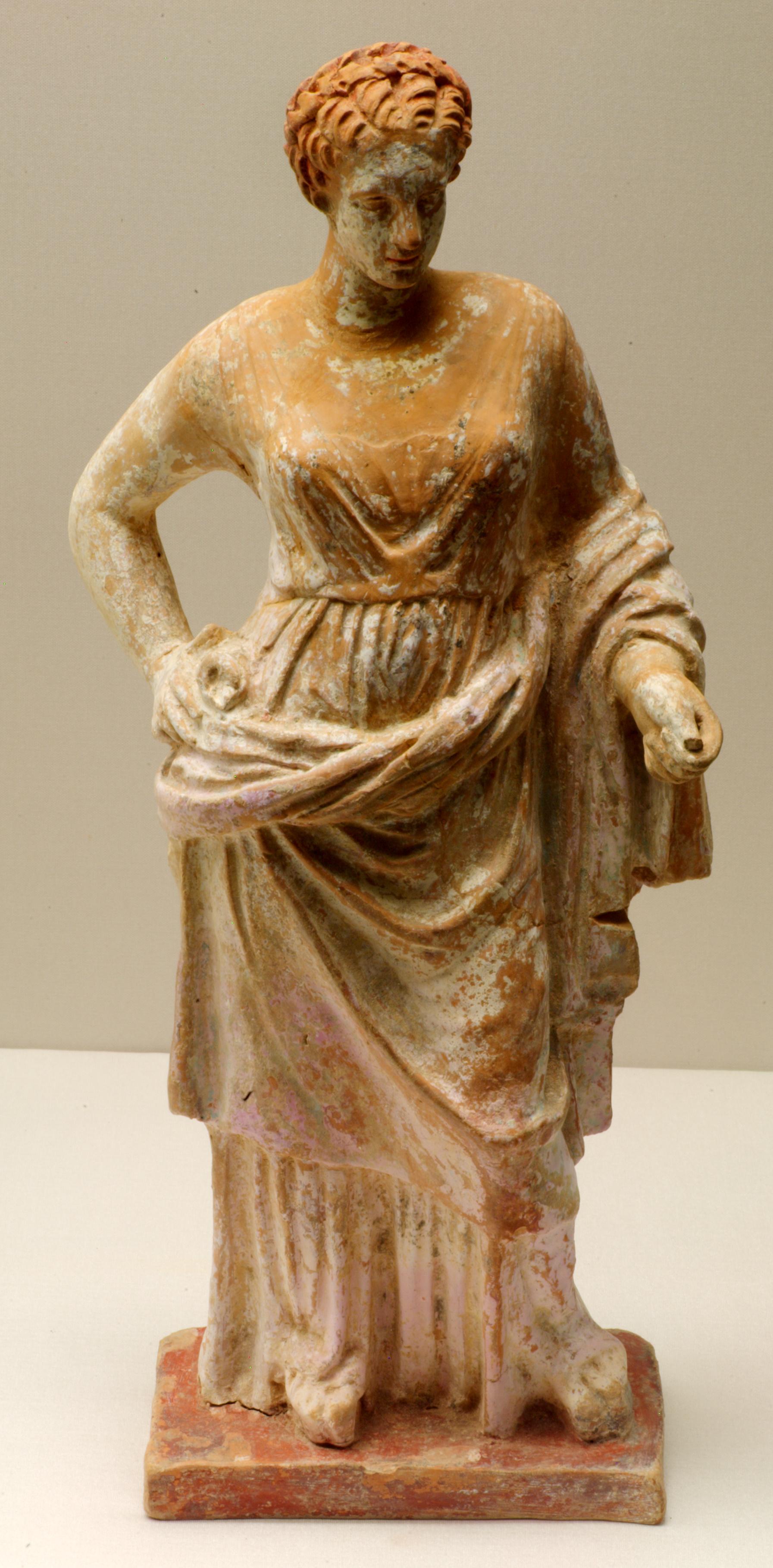 corinthian terracotta statue of aphrodite 4th century bc