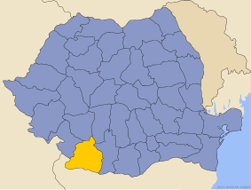 Administrative map of Руминия with Долж county highlighted