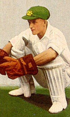 English: Picture of Australian cricketer Don T...