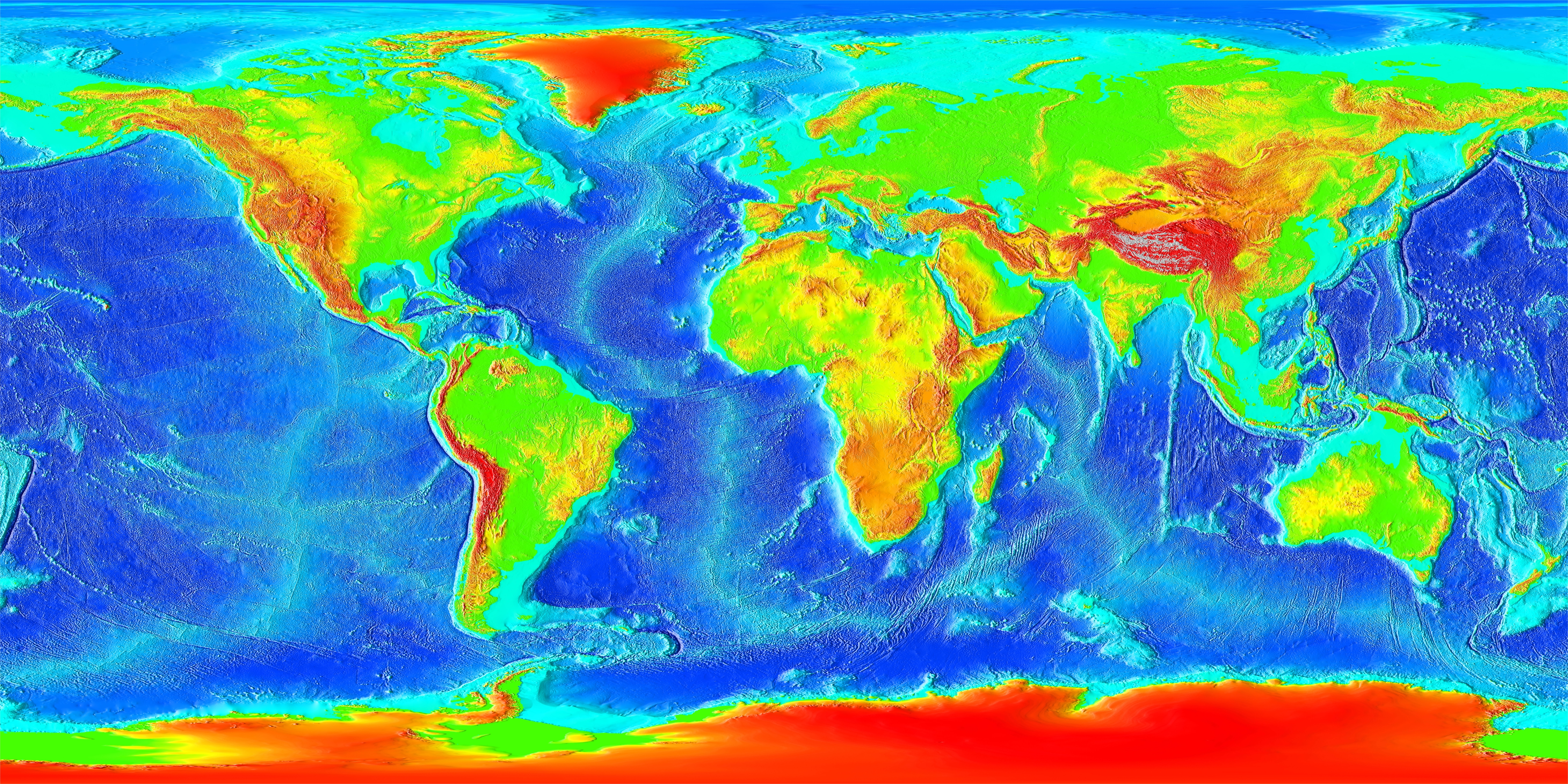 Ocean Floor Elevation Map : Tectonic geomorphology