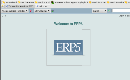The ERP5 main page