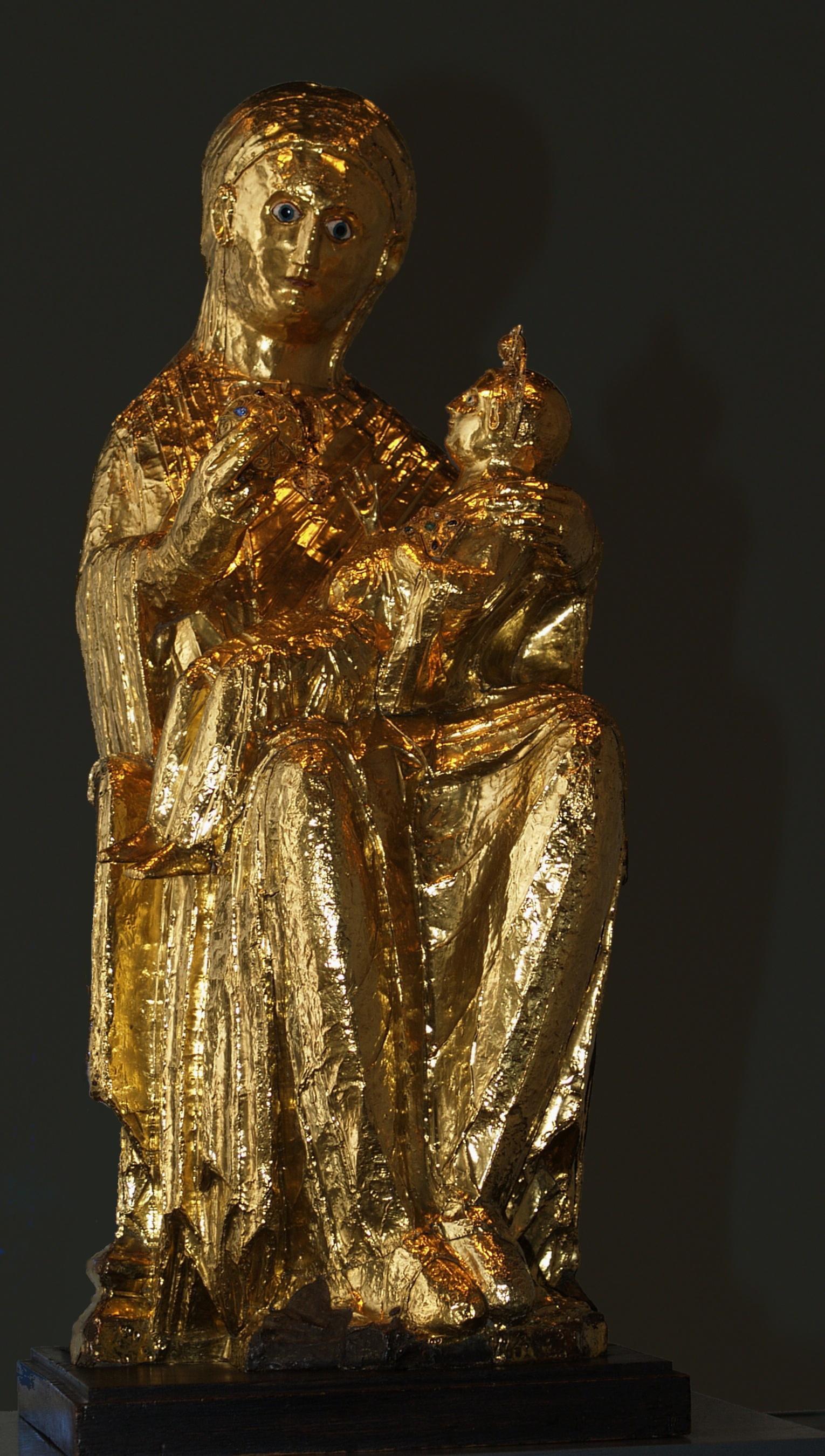 Gotischer Hausaltar Heiligenschrein Madonnenfigur Marienfigur Kirchenfigur Antik Garten- & Parkeinrichtung