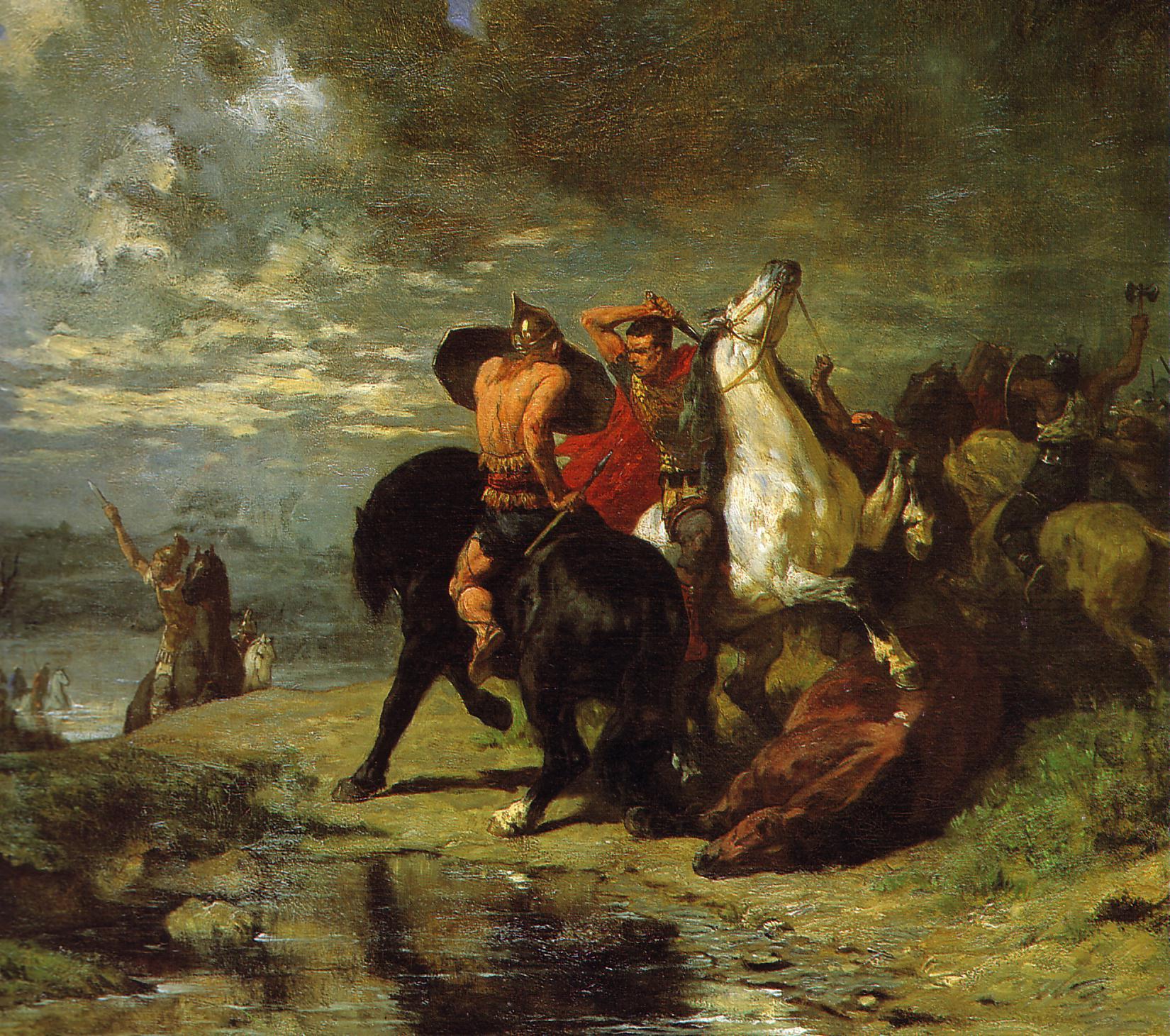 Evariste-Vital Luminais - Combat de Romains et de Gaulois.jpg