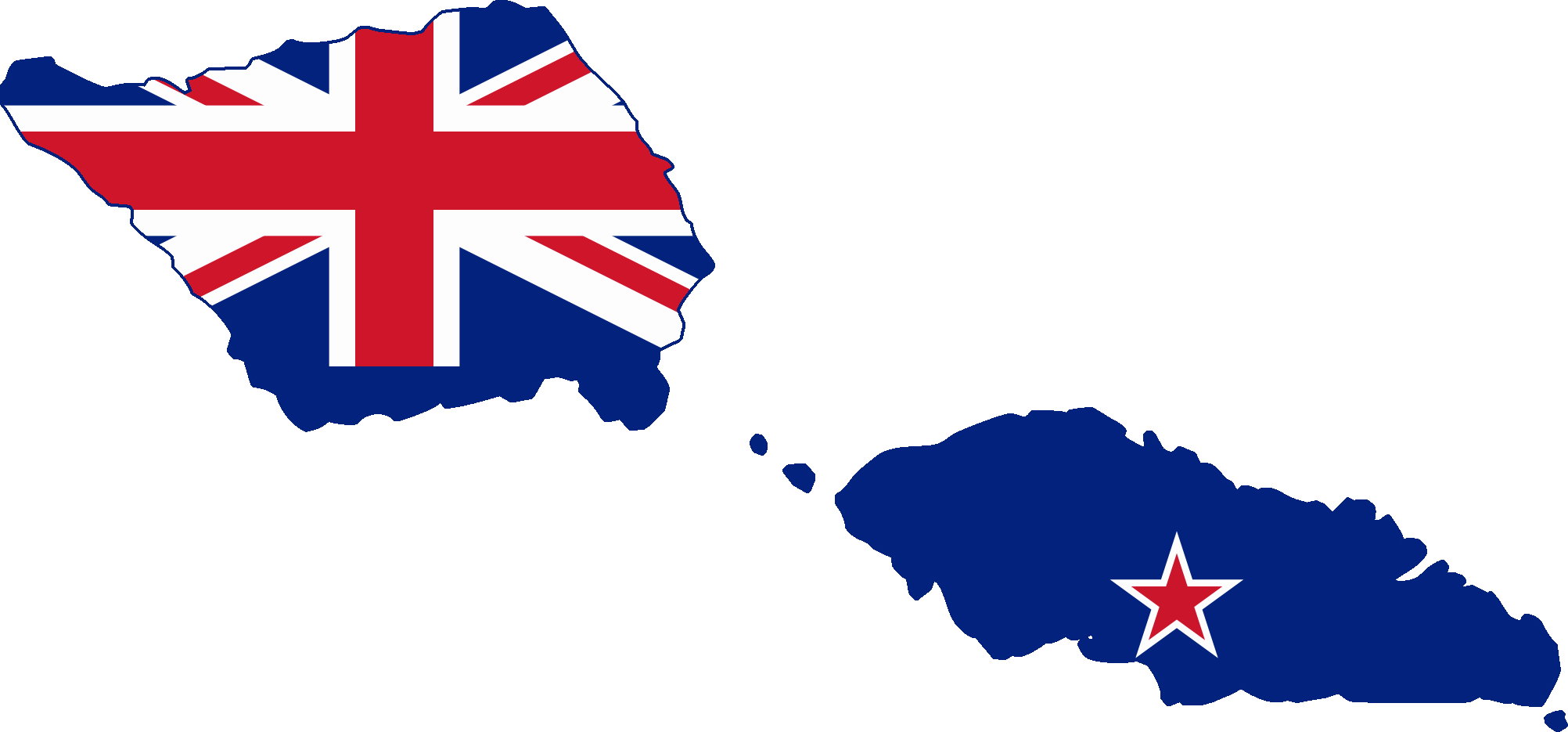 FileFlag Map Of Western Samoa New Zealand Mandatepng - New zealand map png