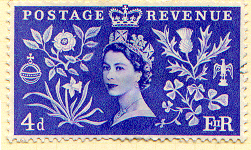 GB Elizabeth II Coronation Stamp 1953 Scanned ...