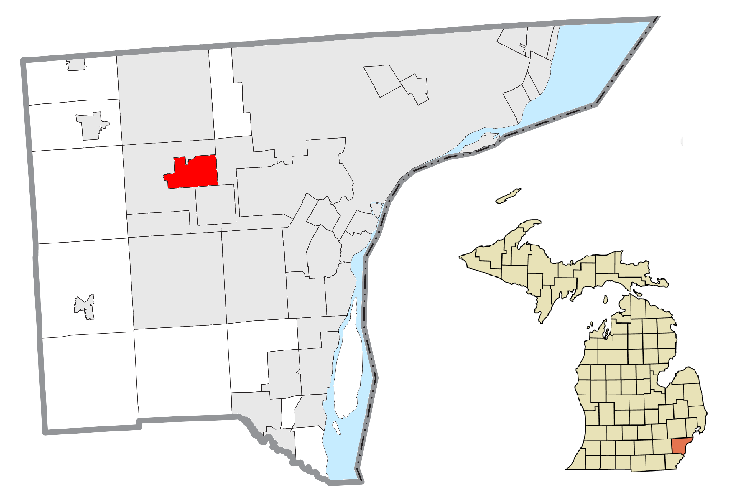 File Garden City Mi Location Png Wikimedia Commons
