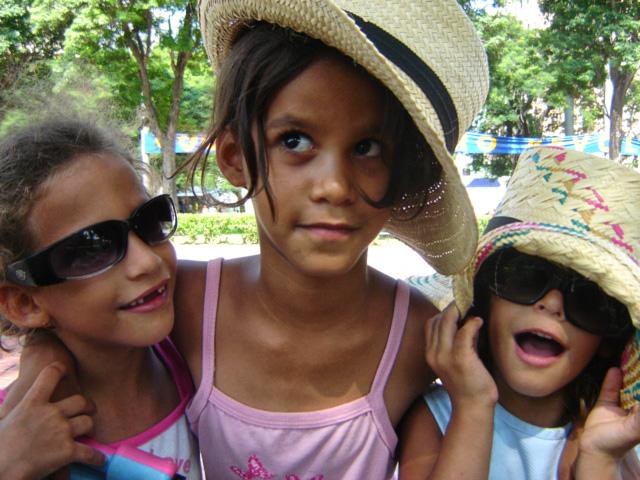 Young cuban teen girls think