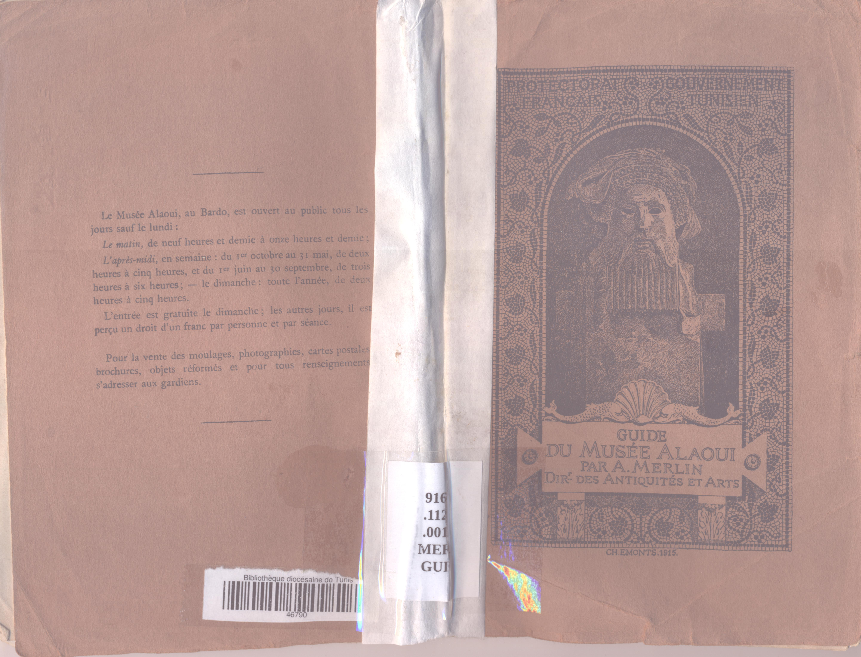 File Guide Du Musée Alaoui Par Alfred Merlin Page De Garde