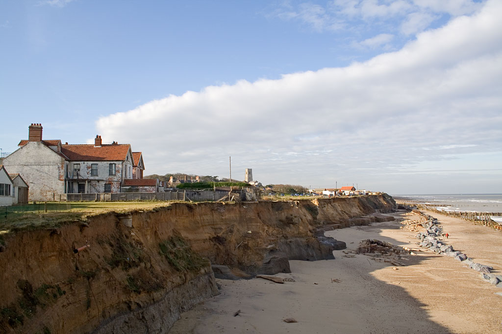 coastal erosion at happisburgh norfolk Sea defenses and coastal erosion at happisburgh on the norfolk coast east anglia england these are homes in beach road happisburgh, norfolk which are due for demolition soon (2011) due to cliff erosion by the sea.