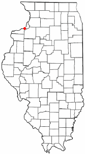 Location of Silvis, Illinois