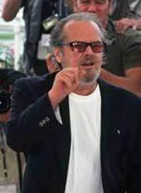 Jack Nicholson à Cannes en 2001