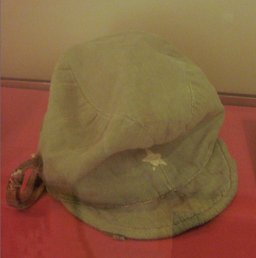 File:Japanese guard cap from the internment camp of Martin-des-Pallieres in Saigon.jpg