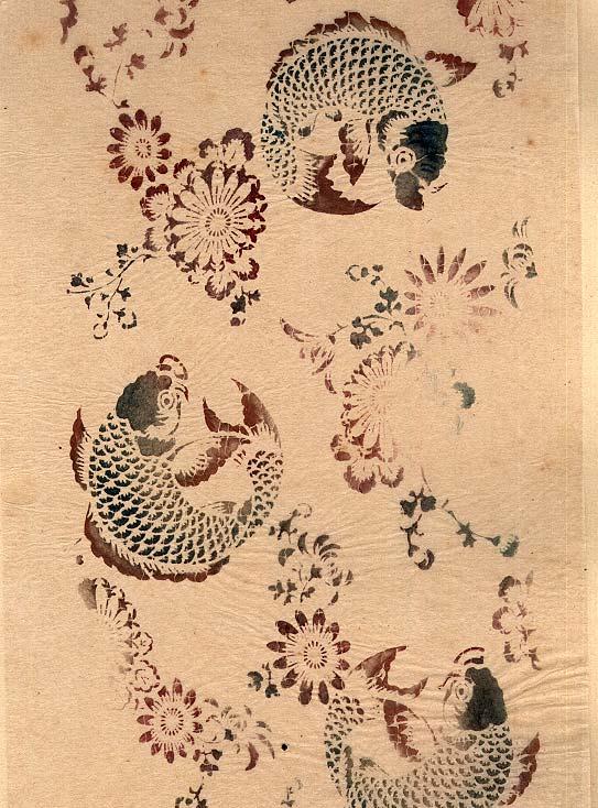 Japanischer Schablonendruck um 1890